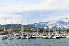 Puerto de los veleros Imagen de archivo libre de regalías