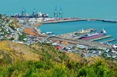 Puerto de Lyttelton de Christchurch - Nueva Zelanda Imagen de archivo