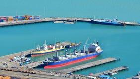 Puerto de Lyttelton de Christchurch - Nueva Zelanda Imagenes de archivo