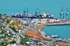 Puerto de Lyttelton de Christchurch - Nueva Zelanda Fotos de archivo libres de regalías