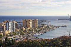 Puerto de Málaga, España Fotografía de archivo libre de regalías