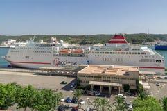 Puerto de Mahon en Menorca Foto de archivo