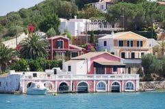 Puerto de Mahon en Menorca Fotografía de archivo libre de regalías