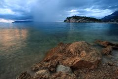 Puerto de Makarska Imagen de archivo libre de regalías