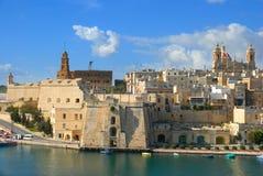 Puerto de Malta, valletta, las tres ciudades; Cospicua Fotografía de archivo