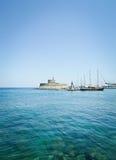 Puerto de Mandraki Imagenes de archivo