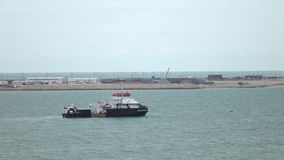 Puerto de mar Caspio de Bautino 25 fps almacen de metraje de vídeo