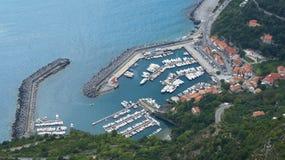 Puerto de Maratea fotografía de archivo
