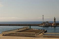 Puerto de Marsella - faro imagen de archivo