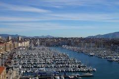 Puerto de Marsella Vieux (puerto viejo) imagen de archivo