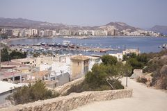 Puerto de Mazarron beach Royalty Free Stock Photography