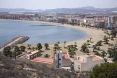 Puerto de Mazarron beach Royalty Free Stock Photo