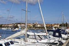 Puerto de Medulin Foto de archivo libre de regalías