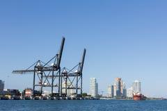 Puerto de Miami Imagen de archivo libre de regalías