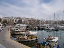 Puerto de Mikrolimano cerca de Pireo en Atenas Grecia Fotos de archivo libres de regalías