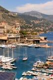 Puerto de Mónaco escénico Foto de archivo libre de regalías