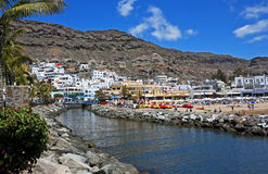 Puerto de Mogán with canal Royalty Free Stock Photography