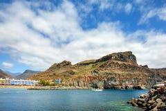 Puerto de Mogan海岸  canaria gran 加那利群岛tenerife 库存图片