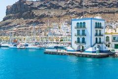 Puerto de Mogan港口  免版税库存照片