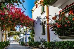 Puerto de Mogan,大加那利岛的,西班牙一个美丽,浪漫镇 库存照片