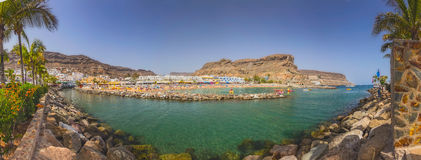 Puerto de Mogan beach Stock Photos