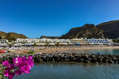 Puerto de Mogan, a beautiful, romantic town on Gran Canaria, Spain royalty free stock image