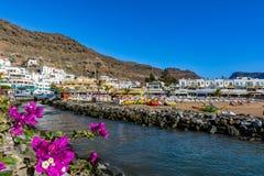 Puerto de Mogan, a beautiful, romantic town on Gran Canaria, Spain Stock Photography