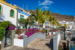 Puerto de Mogan, a beautiful, romantic town on Gran Canaria, Spain stock photos