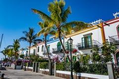Puerto de Mogan, a beautiful, romantic town on Gran Canaria, Spain Royalty Free Stock Images