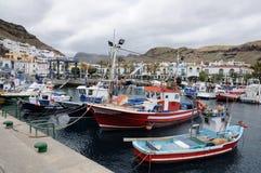 Puerto de Mogan, canari grand photographie stock libre de droits