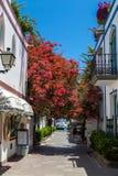Puerto de Mogan, Gran Canaria. Alley in Puerto de Mogan, Gran Canaria Royalty Free Stock Images