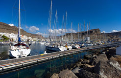 Puerto de Mogan marina boats Royalty Free Stock Images