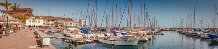 Puerto de Mogan marina Stock Images