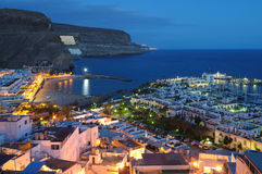 Puerto de Mogan at night Royalty Free Stock Photography