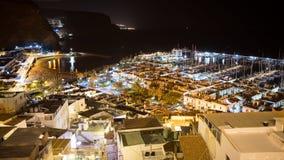 Puerto De Mogan, rybak populacja w Gran Canaria wyspie, Hiszpania zdjęcie royalty free