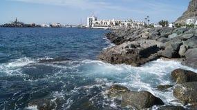 Puerto de Mogan. View to the Harbour of Puerto de Mogan on Gran Canaria Stock Photography