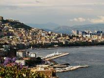 Puerto de Nápoles foto de archivo libre de regalías