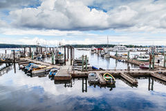 Puerto de Nanaimo en la isla de Vancouver, A.C., Canadá Fotos de archivo