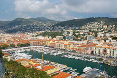 Puerto de Niza, Cote d Azur Fotografía de archivo libre de regalías
