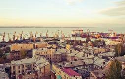 Puerto de Odessa en el día Fotos de archivo libres de regalías