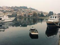 Puerto de Ohrid Fotos de archivo libres de regalías