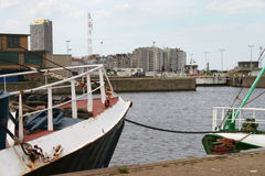 Puerto de Oostend imagen de archivo libre de regalías