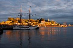 Puerto de Oslo imagen de archivo libre de regalías