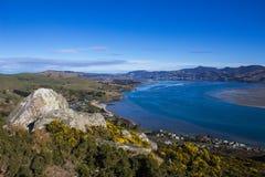 Puerto de Otago en Nueva Zelanda imagen de archivo libre de regalías