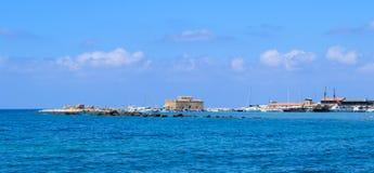 Puerto de Paphos Fortaleza Imágenes de archivo libres de regalías