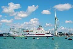 Puerto de Portsmouth Foto de archivo libre de regalías