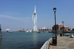 Puerto de Portsmouth Fotos de archivo libres de regalías