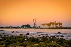 Puerto de Prachuap, provincia de Prachuap Khiri Khan imagen de archivo libre de regalías