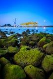 Puerto de Prachuap, provincia de Prachuap Khiri Khan fotografía de archivo libre de regalías