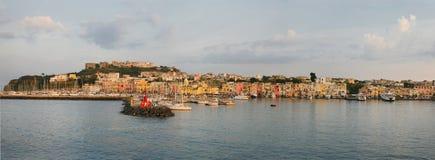 Puerto de Procida Imagen de archivo libre de regalías
